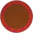 rug #1047250 | round plain red-orange rug
