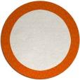 rug #1047254 | round plain red-orange rug