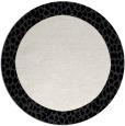 rug #1047262 | round white popular rug