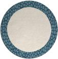 rug #1047282 | round plain white rug