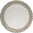 rug #1047286 | round white animal rug
