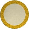 rug #1047290 | round yellow animal rug
