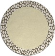 rug #1047294 | round plain yellow rug