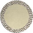 rug #1047294 | round yellow borders rug