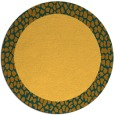rug #1047302 | round plain yellow rug