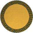 rug #1047302 | round plain light-orange rug