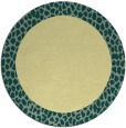rug #1047306 | round plain yellow rug