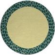 rug #1047306 | round yellow animal rug