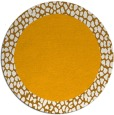 rug #1047326 | round light-orange animal rug