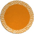 rug #1047334 | round light-orange animal rug