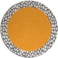 rug #1047338 | round plain light-orange rug