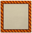 rug #1047710 | square orange animal rug