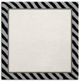 rug #1047854 | square plain black rug