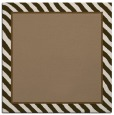 rug #1047866 | square plain mid-brown rug