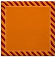 rug #1047914 | square orange animal rug