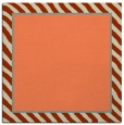 rug #1047922 | square plain orange rug