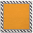 rug #1048074 | square plain light-orange rug