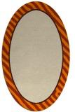 rug #1048078 | oval orange borders rug