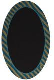 rug #1048106 | oval plain mid-brown rug