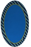 rug #1048110 | oval blue rug