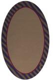 rug #1048189 | oval plain rug