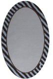 rug #1048190 | oval plain blue-violet rug