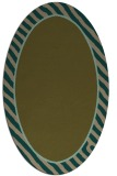 rug #1048194 | oval plain brown rug
