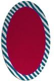 rug #1048198 | oval plain red rug
