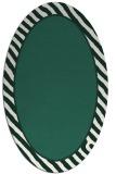 rug #1048214 | oval plain blue-green rug