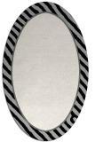 rug #1048222 | oval plain black rug