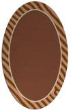 rug #1048226 | oval plain brown rug