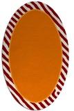 rug #1048286 | oval plain orange rug