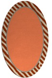rug #1048290 | oval plain orange rug