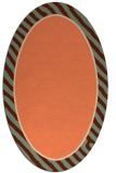 rug #1048294 | oval plain red-orange rug