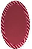 rug #1048306   oval pink animal rug