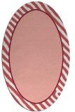 rug #1048310 | oval plain white rug