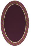 rug #1048318 | oval plain purple rug