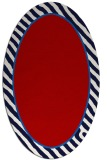rug #1048330 | oval plain red rug