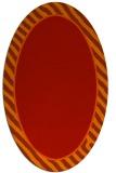 rug #1048334 | oval plain red rug