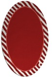 rug #1048338 | oval red stripes rug