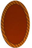 rug #1048346 | oval red-orange stripes rug
