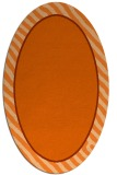 rug #1048350 | oval plain red-orange rug