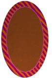 rug #1048354 | oval plain red-orange rug