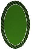 rug #1048362 | oval plain light-green rug