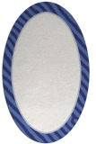 rug #1048374 | oval white stripes rug