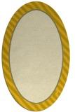 rug #1048394 | oval yellow stripes rug