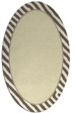rug #1048398 | oval plain white rug