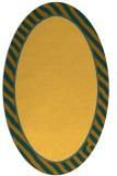 rug #1048406 | oval plain light-orange rug