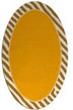 rug #1048430 | oval plain light-orange rug