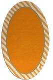 rug #1048438 | oval plain light-orange rug